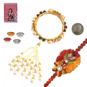 Decorative Lumba Rakhi For Bhabhi n Sweet Rakhi Gift