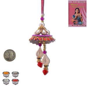 Traditional Handcrafted Cute Lumba Rakhi Pair Gift 404