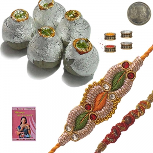 400Gm Kaju Kalash Sweet n Mauli Rakhi to Brother 227