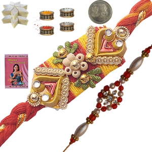 Gifts to Brother Traditional Mauli Rakhi Gift Set 105