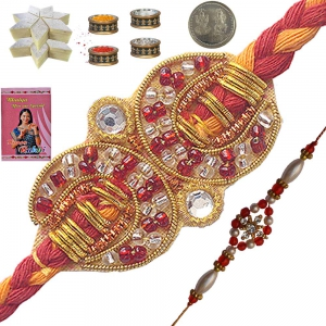 Buy Indian Mauli Rakhi n 400Gm Kaju Katli Sweet 106