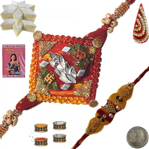 Sending Gorgeous Mauli Rakhi Gifts to Brother 123