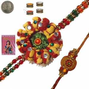 Send Adorable Unique Mauli Rakhi Gift to Brother 128