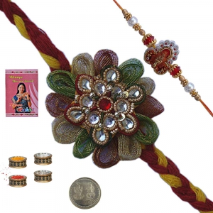 Sending Beautiful Mauli Rakhi Gift to Brother 131