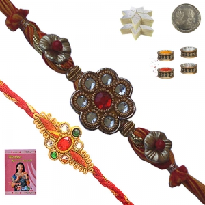 Exclusive Mauli Rakhi n 400Gm Kaju Katli Sweet 134