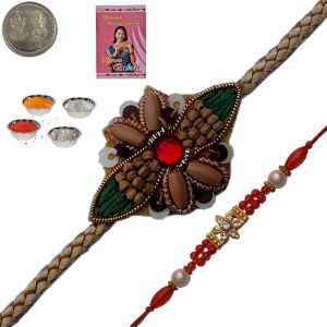 Send Ethnic Handcrafted Mauli Rakhi to Brother 152