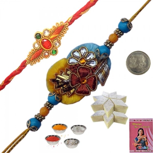 Indian Handcrafted Mauli Rakhi Gift to Brother 154