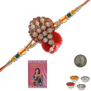 Traditional Handcrafted Ethnic Mauli Rakhi Gift 303