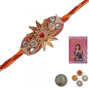 Ethnic Design Stylish Handcrafted Mauli Rakhi Gift 309
