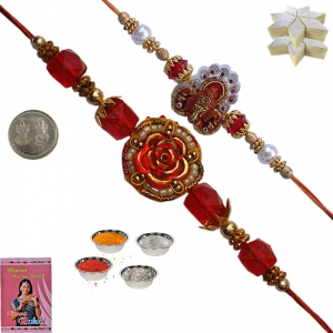 Precious Rakhi to Brother n 400Gm Kaju Katli Sweet 103