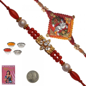 Buy Online Precious Pearl Rakhi Gift to Brother 117