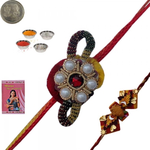 Send Stylish Indian Precious Rakhi Gift to Brother 124