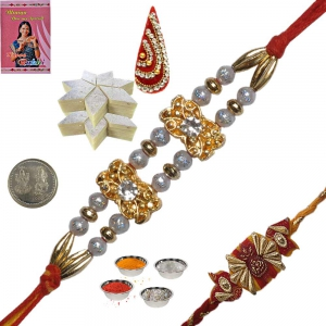 Send Handcrafted Precious Rakhi Gift to Brother 126
