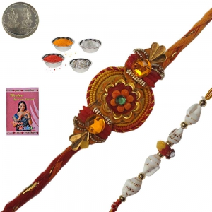 Sending Traditionally Styled Rakhi for Brother 128