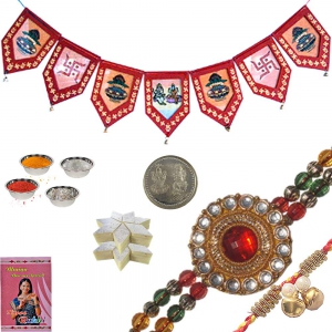 Exclusive Rakhi n Fine Door Hanging to Brother 136