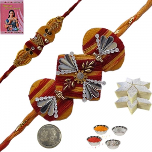 Send Beautiful Mauli Rakhi Festival Gift to Bhai 138