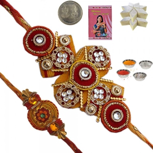 Sending Fine Hadcrafted Rakhi Gift for Brother 141