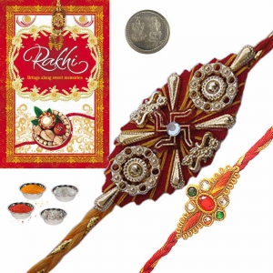 Exclusive Indian Mauli Rakhi Gifts for Brother 149