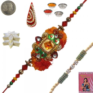 Sending Mulit-Color Cute Rakhi Gift for Brother 154