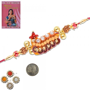 Handmade Exclusive Designer Rakhi Gift For Brother 306