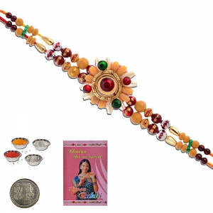 Rajasthani Handcrafted Lovely Rakhi Gift For Brother 308