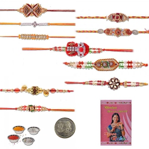 Exclusive Handcrafted 10 Pc Rakhi Gift For Brothers 701