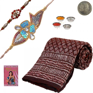 Send Famous Jaipuri Single Bed Razai Rakhi Gift 111