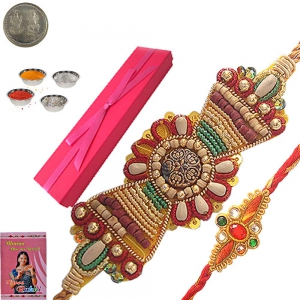 Special Sandalwood Rakhi Gift Box for Brother 109