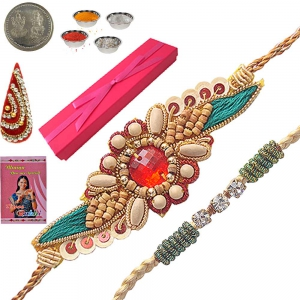 Exclusive Sandalwood Rakhi Gift Box to Brother 115