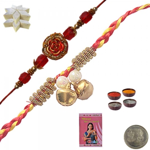 Buy Indian Stylish Thread Rakhi n 400Gm Kaju Katli 103