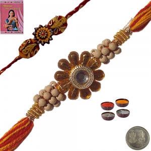 Send Stylish Cute Thread Rakhi Gift to Brother 115