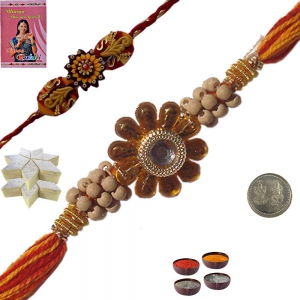 Stylish Thread Rakhi n 200Gm Fresh KajuKatli Sweet 115