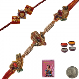 Send Adorable Gift to Brother Ethnic Thread Rakhi 117