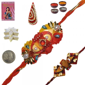 Excellent Rakhi Gift to Brother n 400Gm Kaju Katli 127