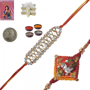 Send Rakhi Ethnic Thread Rakhi Gift to Brother 124 132