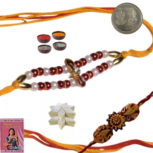 Send Adorable Fine Thread Rakhi Gift to Brother 133