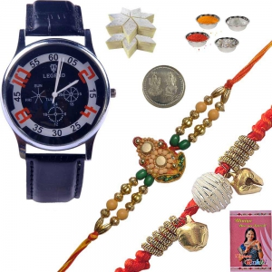Luxury Wrist Watches Rakhi Gift n 400Gm Kaju Katli 138
