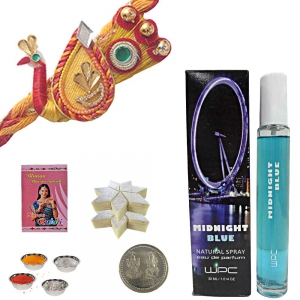 Midnight Blue Perfume Thread Rakhi Gift to Brother 139