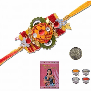 Traditional Rajasthani Design Thread Rakhi Gift 306