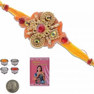 Traditional Designer Handcrafted Thread Rakhi Gift 307