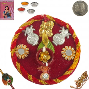 Send India Stylish Designer Rakhee Pooja Thali 105