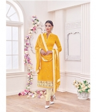 Shoponbit Attractive Yellow Color Straight Cut Salwar Suit SHMY-17