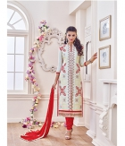 Shoponbit Beautiful Off White Color Straight Cut Salwar Suit SHMY-18