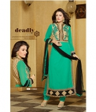 Shoponbit Beautiful Embroidered Semi-Stitched Salwar Suit