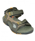 Sparx Mens Sandal SS-604 Olive Green Yellow