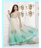 Shoponbit Off White And Sky Color Full Sleev Anarkali Suit SHLT-SKY
