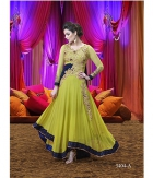 Shoponbit Amazing Green-Yellow Color Embroidered Anarkali Suit SHVP-GY