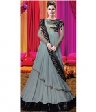 Shoponbit New Grey Color Designer Neck Anarkali Suit SHVP-Grey