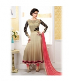 Shoponbit Latest Cream Color Full Neck Embroidered Anarkali Suit SHVR-01
