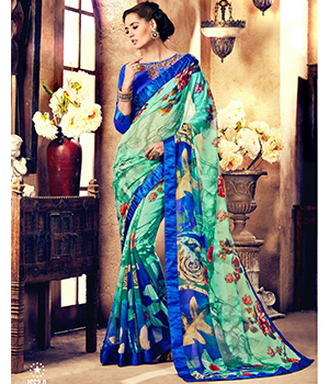 Shoponbit Exclusive Summer Wear Georgette Saree SHSM-1562A